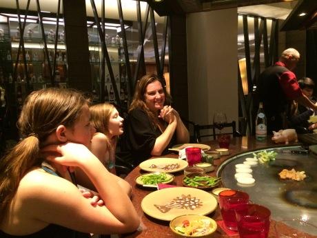 Japanese Teppanyaki dinner at Anantara in Bangkok -- ahh Asia.
