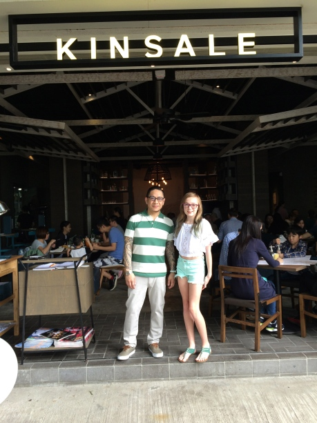 Stephanie and Walter, the proprietor of Kinsale, a fantastic restaurant in Hong Kong.