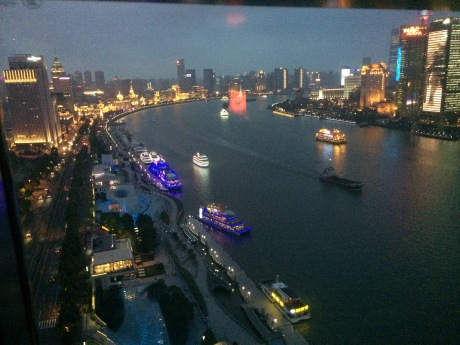 One last date night for Karen and I, and that view of the Huangpu river. Sigh...