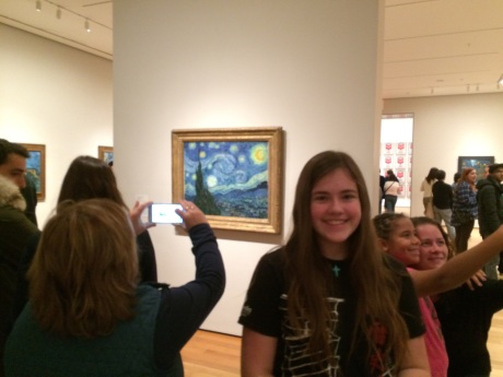 …a Van Gogh exhibition. It's nice to be back in the states, though we all miss Shanghai.